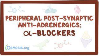 Video poster for Peripheral postsynaptic anti-adrenergics: Alpha blockers