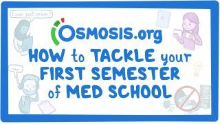 Video poster for Clinician's Corner: How to tackle your first semester of med school