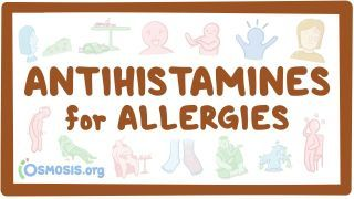 Video poster for Antihistamines for allergies
