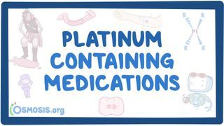 Video poster for Platinum containing medications