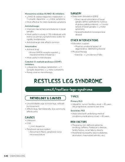 Restless Legs Symptome Therapie