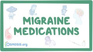 Video poster for Migraine medications