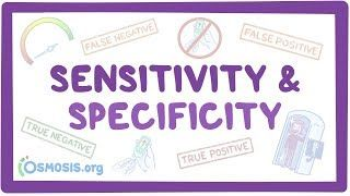 Video poster for Sensitivity and specificity