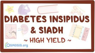 Video poster for High Yield: Diabetes insipidus and SIADH