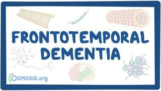 Video poster for Frontotemporal dementia
