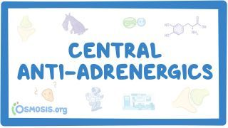 Video poster for Central anti-adrenergics