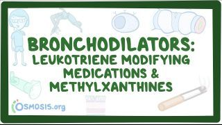 Video poster for Bronchodilators: Leukotriene antagonists and methylxanthines