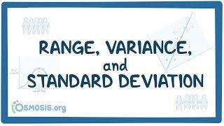 Video poster for Range, variance, and standard deviation