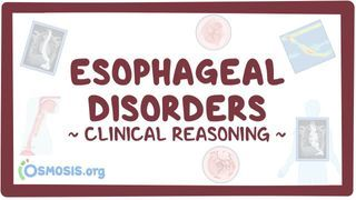 Video poster for Clinical Reasoning: Esophageal disorders
