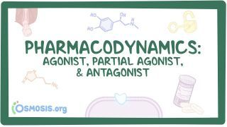 Video poster for Pharmacodynamics: Agonist, partial agonist, and antagonist