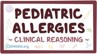Video poster for Clinical Reasoning: Pediatric allergies