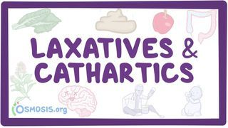 Video poster for Laxatives and cathartics