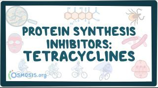 Video poster for Protein synthesis inhibitors: Tetracyclines