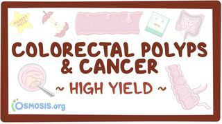 Video poster for High Yield: Colorectal polyps and cancer