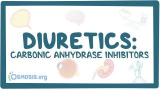 Video poster for Carbonic anhydrase inhibitors