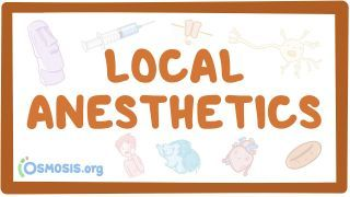 Video poster for Local anesthetics