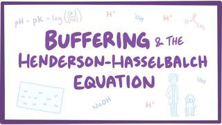 Video poster for Buffering and Henderson-Hasselbalch equation