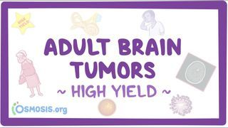 Video poster for High Yield: Adult brain tumors