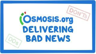 Video poster for Clinician's Corner: How to deliver bad news