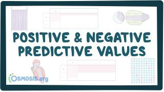 Video poster for Positive and negative predictive value