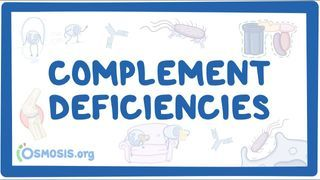Video poster for Complement deficiency