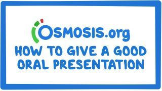Video poster for Clinician's Corner: How to give a good oral presentation