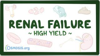 Video poster for High Yield: Renal failure