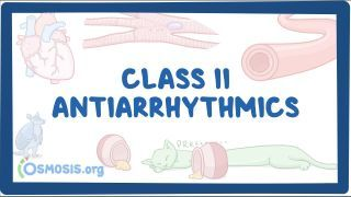 Video poster for Class II Antiarrhythmics: Beta blockers