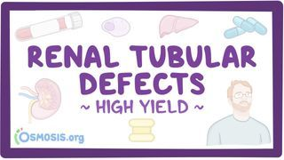 Video poster for High Yield: Renal tubular defects