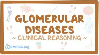 Video poster for Clinical Reasoning: Glomerular disease - Nephritic and nephrotic syndromes