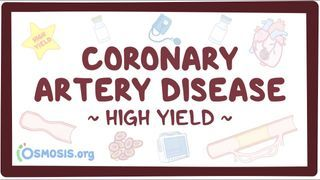 Video poster for High Yield: Coronary artery disease