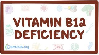 Video poster for Vitamin B12 deficiency