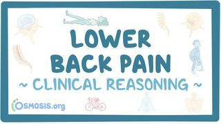 Video poster for Clinical Reasoning: Lower back pain