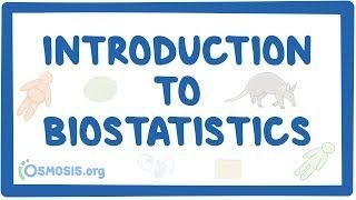 Video poster for Introduction to biostatistics