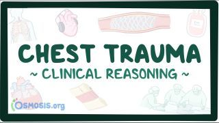 Video poster for Clinical Reasoning: Chest trauma