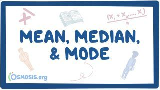Video poster for Mean, median, and mode