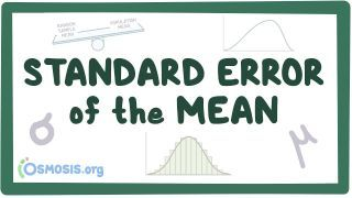 Video poster for Standard error of the mean (Central limit theorem)