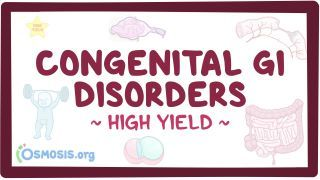 Video poster for High Yield: Congenital gastrointestinal disorders