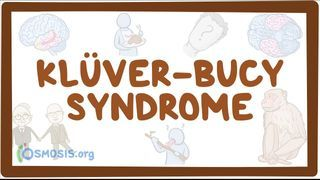 Video poster for Kluver-Bucy syndrome
